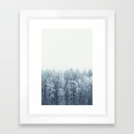 Frosty feelings Framed Art Print