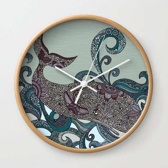 Deep Blue Me Wall Clock