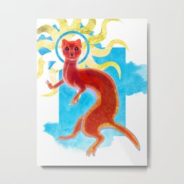 Enlightenment Weasel Metal Print