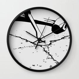 Chipping away Wall Clock