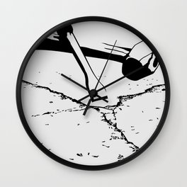 Chipping away Wall Clock