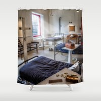 victorian Shower Curtains featuring Victorian Ward by Adrian Evans