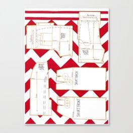 Seaside Stripes Slopers Canvas Print