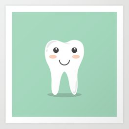 Cute Teeth Art Print