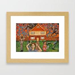 The Help vs Smart Home Framed Art Print
