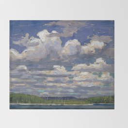 Tom Thomson - Summer Day - Canada, Canadian Oil Painting - Group of Seven Throw Blanket