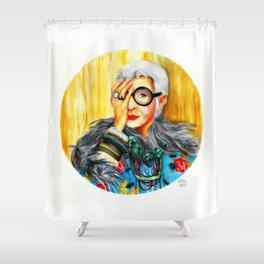 Iris Apfel.  Shower Curtain