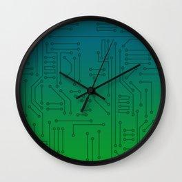 Gradient Computer Chip Wall Clock