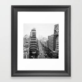 Gran Via in Madrid Framed Art Print
