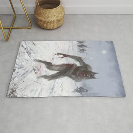 Wounded Wolf Rug