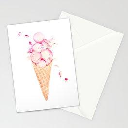 Rose Macaroons Ice Cream Stationery Cards
