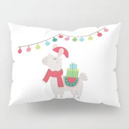 Christmas llamas V Pillow Sham