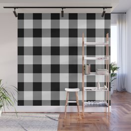 Gingham (Black/White) Wall Mural