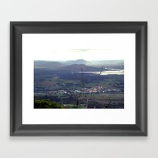 Fields outside Hobart Framed Art Print