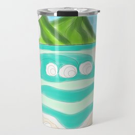 Plumeria ocean view Travel Mug