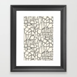 BROKEN black off white Framed Art Print