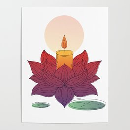 devadatta lotus Poster