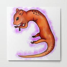 Chipmunk Salamander Metal Print
