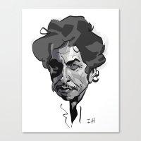 bob dylan Canvas Prints featuring BOB DYLAN! by nachodraws