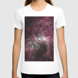Abstract Purple Space Image T-shirt