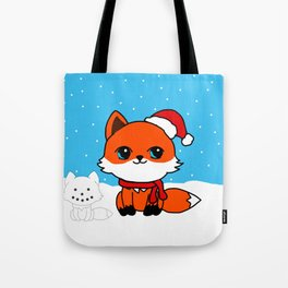 A Fox in the Snow Tote Bag