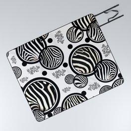 Zebra Circles Picnic Blanket