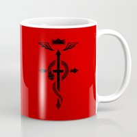 fullmetal alchemist Mugs featuring Fullmetal Alchemist Flamel - Black by R-evolution GFX