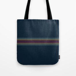 Thin Lines in Retro Color Tote Bag