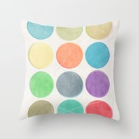 dots Throw Pillows featuring dots by Mareike Böhmer
