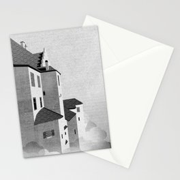 Castle in the Sky | Black & White Stationery Cards