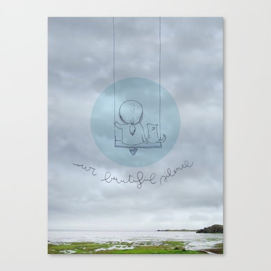 Our beautiful silence. Canvas Print