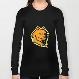 Pomeranian Dog Mascot Long Sleeve T-shirt