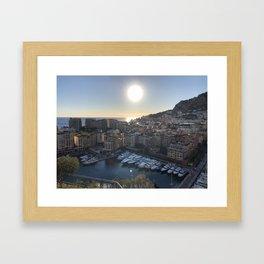 Monaco Sunset Framed Art Print