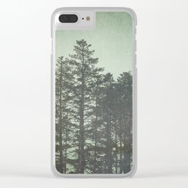 Trees in Fog Clear iPhone Case