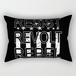 RESIST REVOLT REBEL Rectangular Pillow