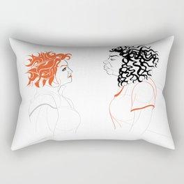 I want to look Fierce Rectangular Pillow