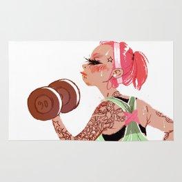 Workout Girl Rug