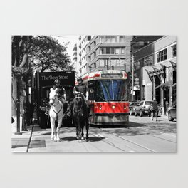 Red Rocket 31c Canvas Print
