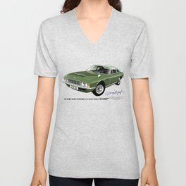 James Bond Aston Martin DBS from OHMSS Unisex V-Neck