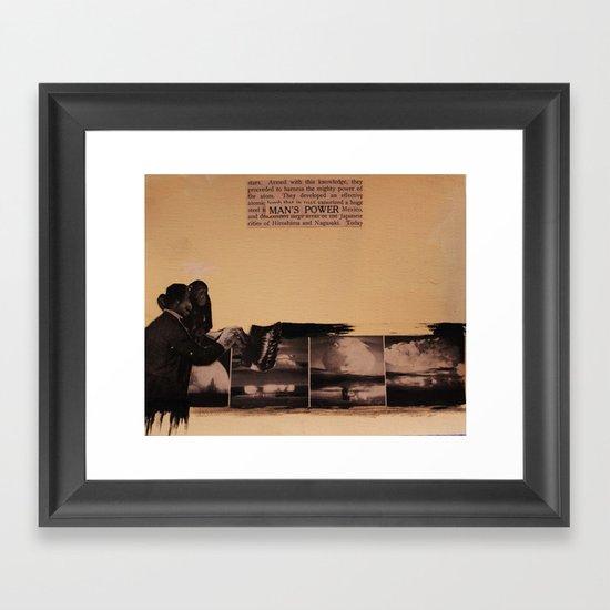 Man's Power Framed Art Print