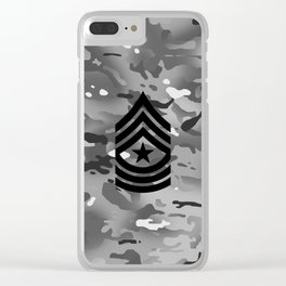 Sergeant Major (Urban Camo) Clear iPhone Case