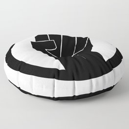 Black Power Fist with Circle, Vintage 1971 Oakland California, BLM, Super Sharp PNG 13000px x 13000px Floor Pillow