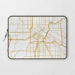 MINNEAPOLIS MINNESOTA CITY STREET MAP ART Laptop Sleeve