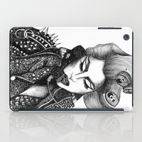 artrave iPad Cases featuring GIRL WITH A TELEPHONE by Christina Dedic