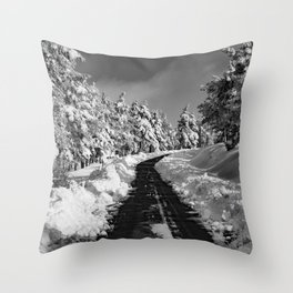 Black Camino Throw Pillow