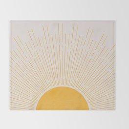 Sun Rise Art, Horizontal boho Sun Throw Blanket