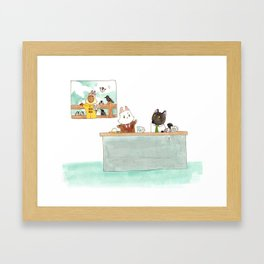 The Weather Report Framed Art Print
