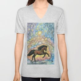 Comet Horse Unisex V-Neck