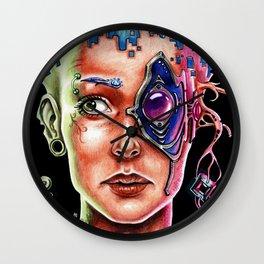 Conexión Cerebro-celular Wall Clock