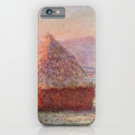 White Frost, Sunrise by Claude Monet iPhone Case